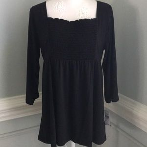 NWT Black Silky Knit Top AB Studios Made in 🇺🇸 L